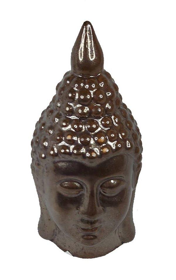 Enfeite Em Cerâmica Buda Bronze - Decoração