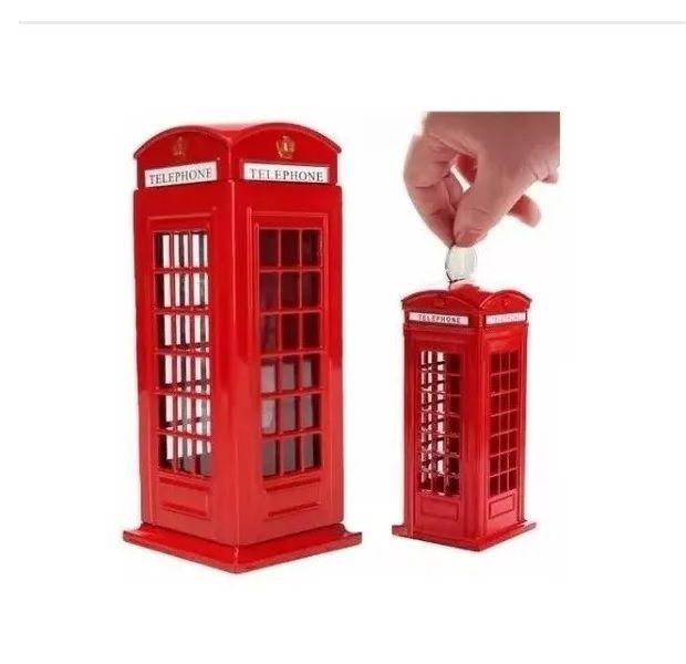 Mini Cofre Cabine Telefonica Londres Decoração Retrô