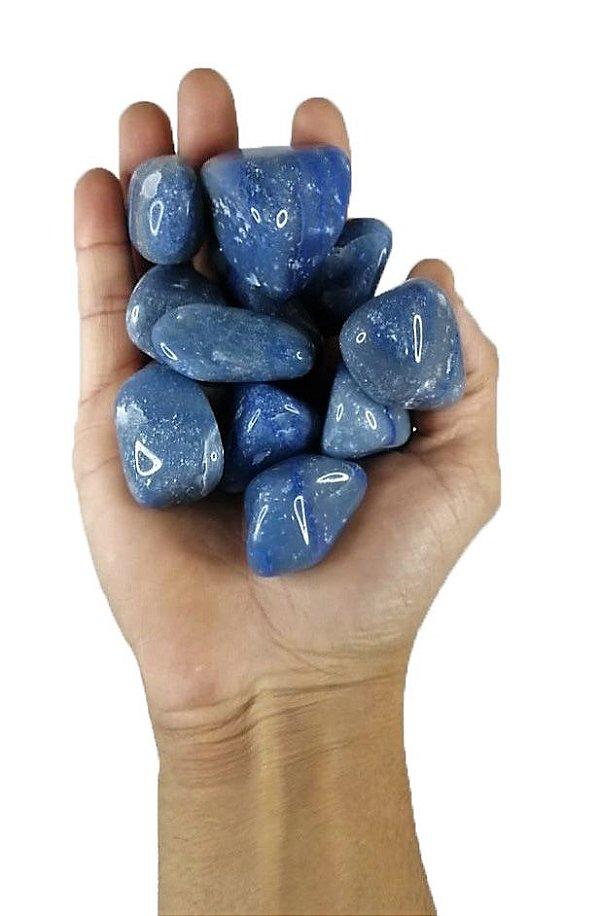 250 grs Quartzo Azul  Pedra Rolada Semi Preciosas A Grade