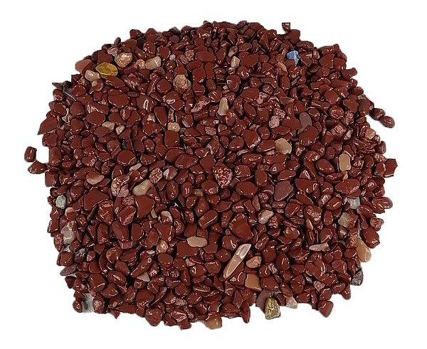 500grs De Pedra Rolada Cascalho Jaspe Vermelho Natural Chakra