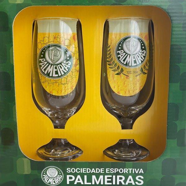 Conjunto Com 2 Taças De Cerveja Chopp Do Palmeiras Porco