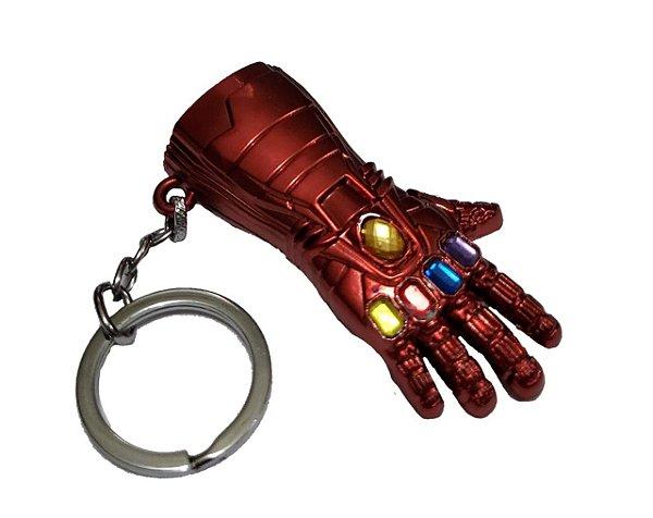 Chaveiro Punho Manopla Thanos Avenger Vermelho