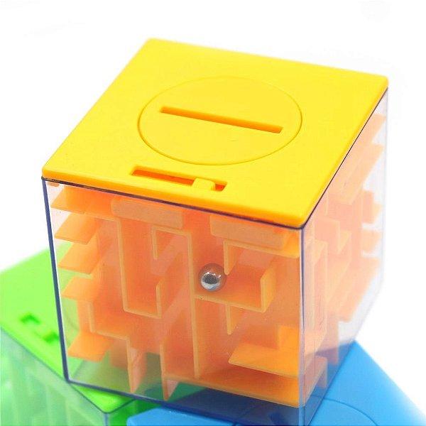 Cubo Mágico 3d Puzzle Labirinto Com Cofre - Cofrinho