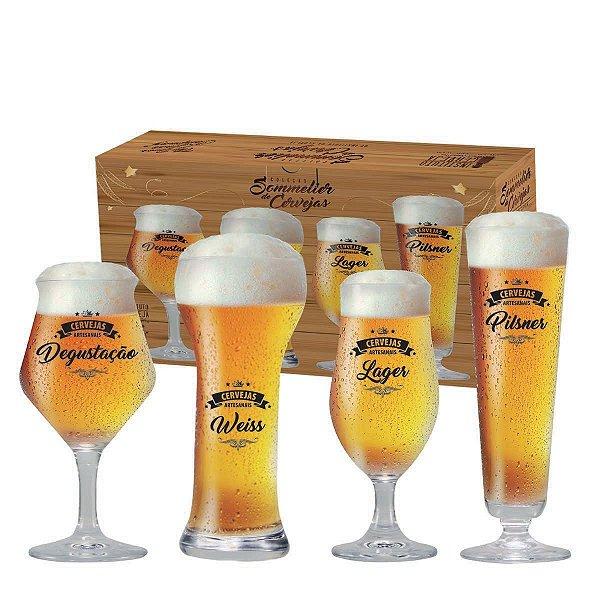 Conjunto de Copos para Cervejas Claras - Beer Sommelier 4 peças