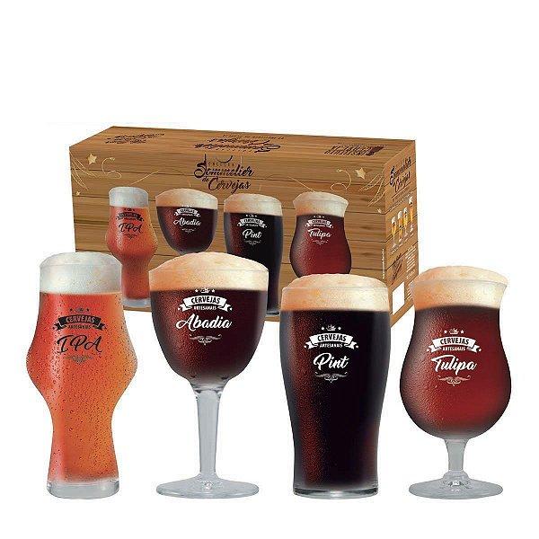 Conjunto Beer Sommelier Taças Copos Cervejas Escuras