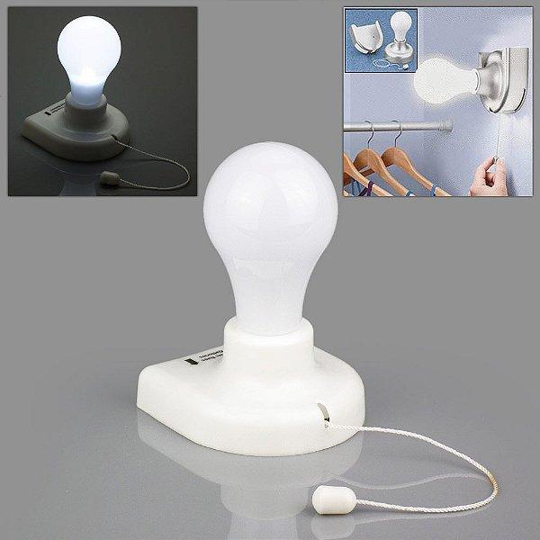 Lampada Luminária De Guarda Roupa Multi Uso 5 Leds A Pilha