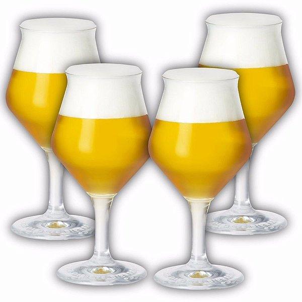 Kit 4 Taças Cerveja - Beer Sommelier 435ml