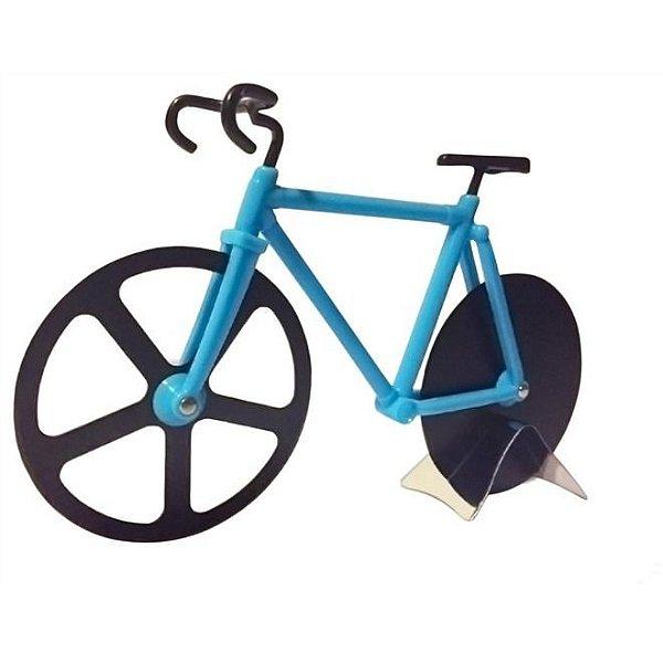 Cortador de Pizza Bicicleta Bike Azul