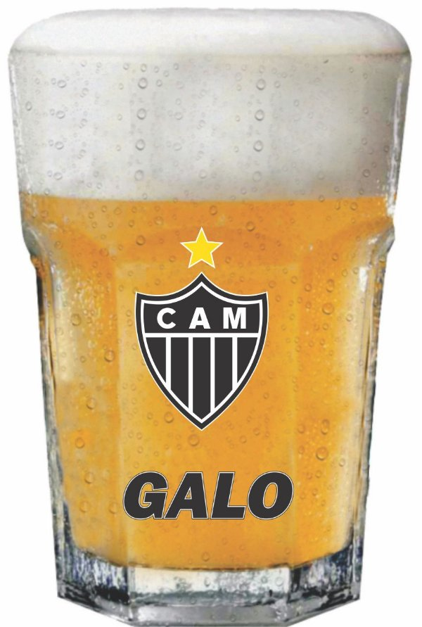 Copo Country Galo Atletico MG  - 400ml