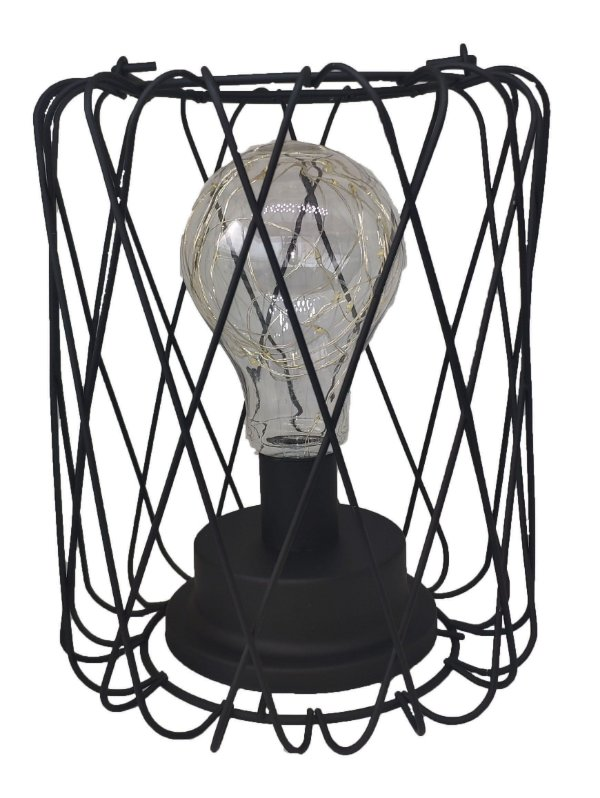 Abajur Luminária Aramado Lanterna Com Lâmpada Led