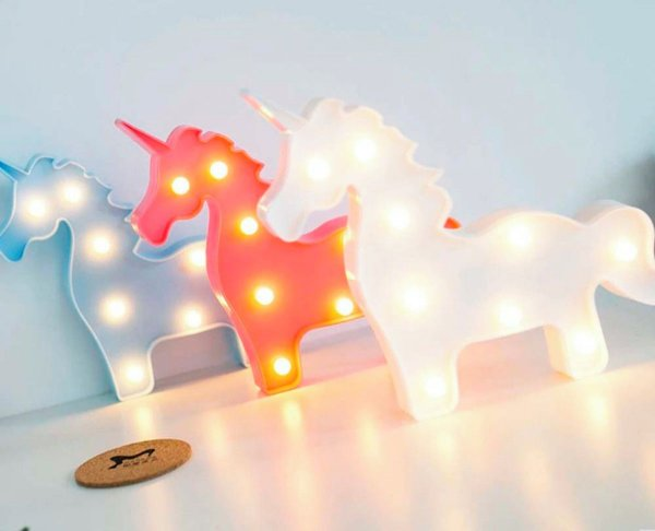 Luminaria Led Decorativa Unicornio Inteiro