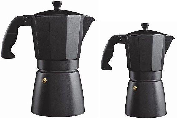 Kit 2 Cafeteiras Expresso Italiana Esmaltada 6 e 9 cups