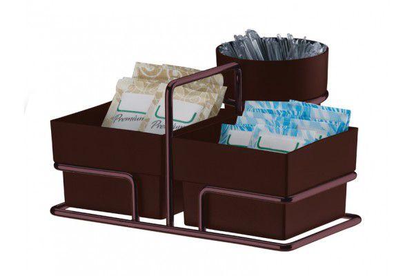 Organizador P/ Sachês De Açúcar/Adoçante E Mexedor Bronze 1156BZ Aramados Future