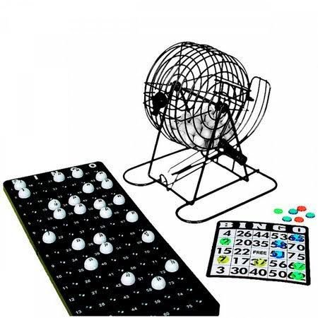 Jogo De Bingo Com Globo À Manivela E 18 Cartelas 244 Peças