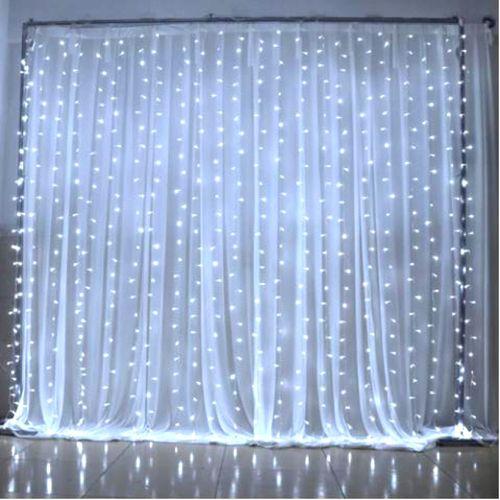Cortina Led 300 Leds Branco Frio 3m X 2m - 110v Ou 220v