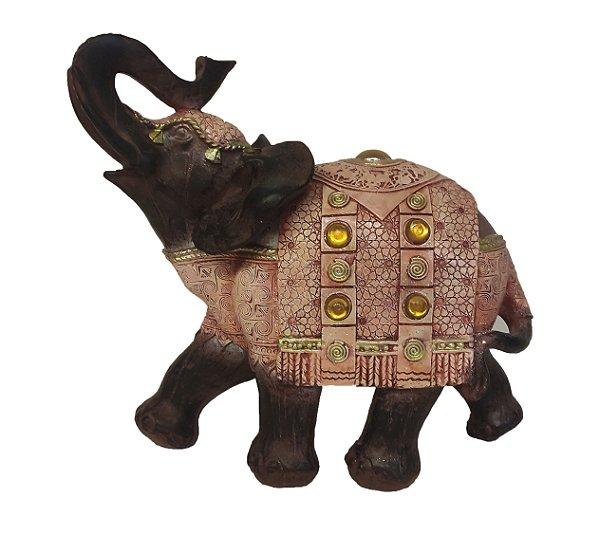 Elefante Indiano Grande Estatueta Da Sorte Decoração Resina
