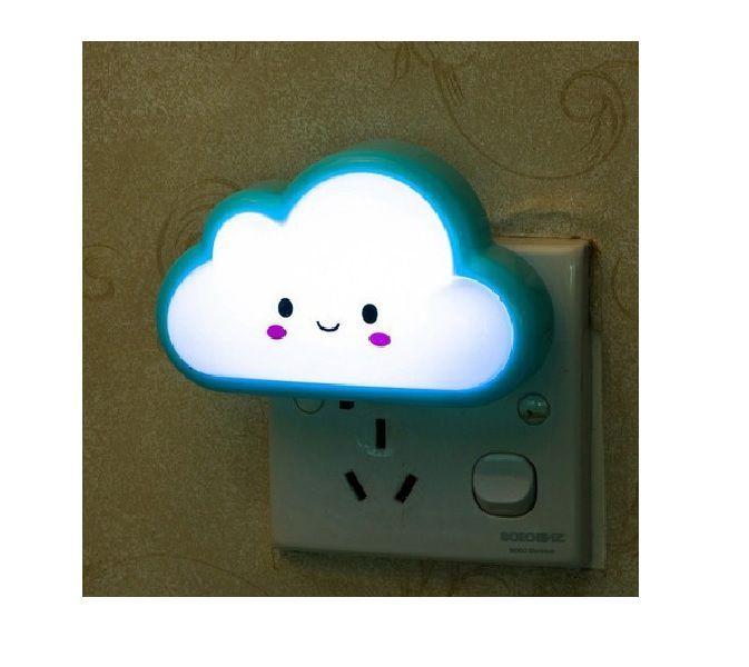 Luminária Abajur De Tomada Nuvem Luz Noturna Led Infantil