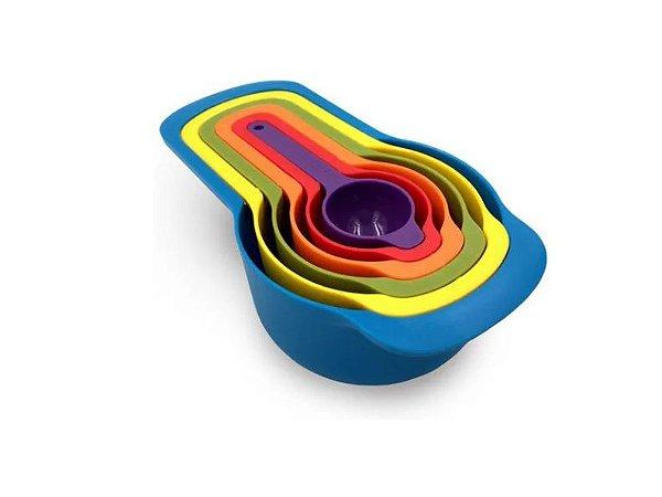 6 Colheres Medidoras P/ Cozinha Medidor Xícara Confeiteiros