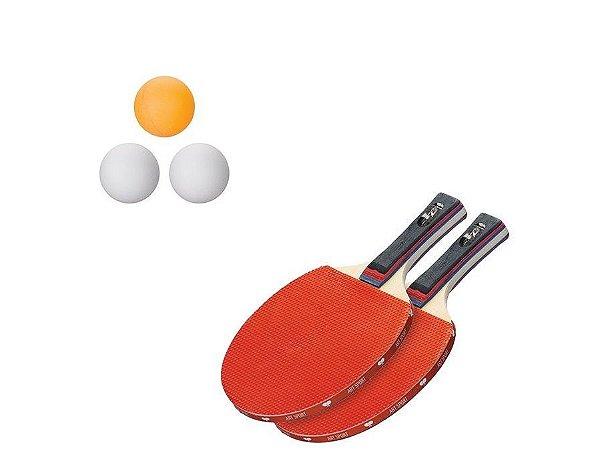 Kits De Ping Pong 2 Raquetes 3 Bolas Cada