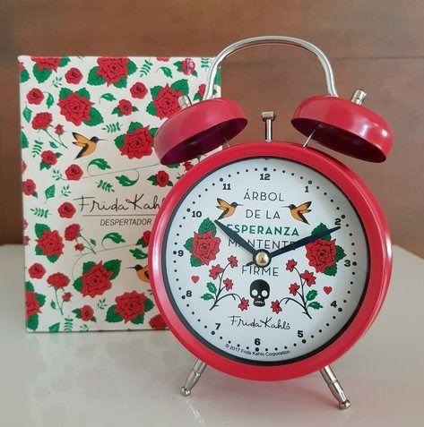 Relógio Despertador Metal Frida Kahlo Retrô Vintage