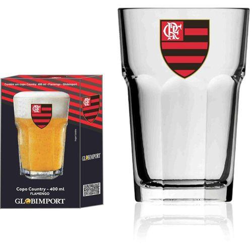Copo Country Flamengo Escudo Mengao - 400 ml - Licenciado