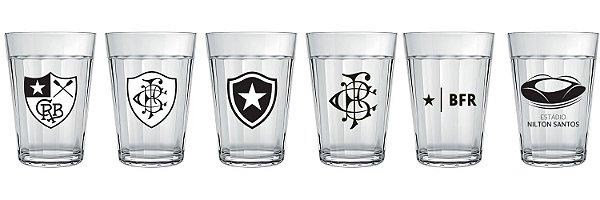 Conjunto 6 Copos Americanos Botafogo Licenciado - Escudos Historicos