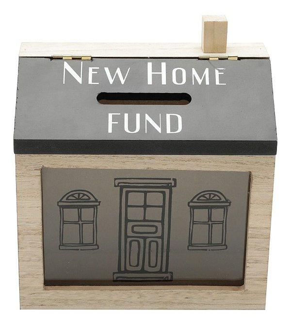 Cofre Em Madeira Criativo New Home Fund Abre E Fecha