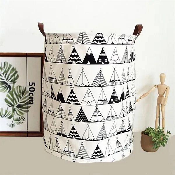 Cesto Para Roupas Sujas Organizador Flexível Laundry Basket Barraquinha