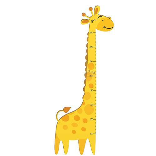 Régua De Crescimento Em Mdf Para Meninos E Meninas Girafa