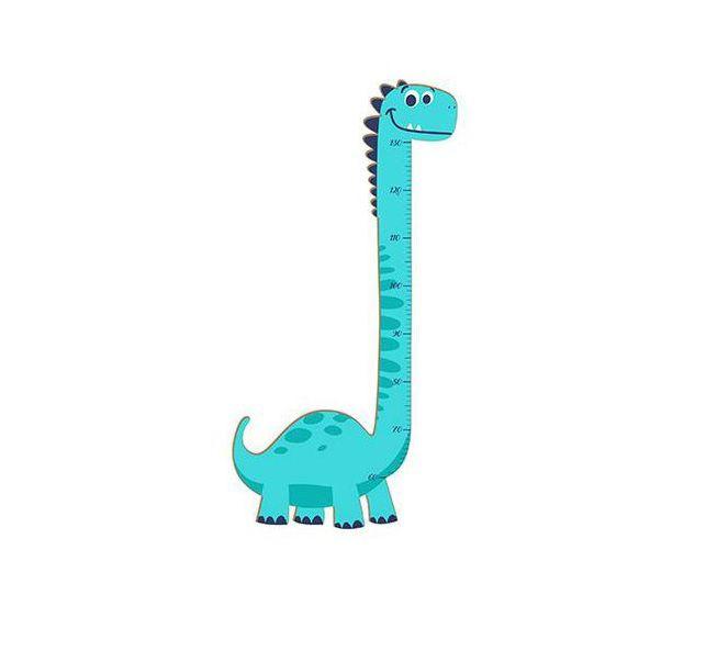 Régua De Crescimento Em Mdf Para Meninos E Meninas Dinossauro