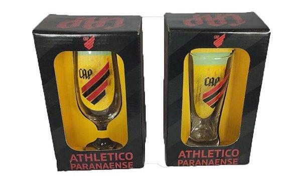 Kit Tulipa Taça Chopp Cerveja Athletico Furacao 300 ML