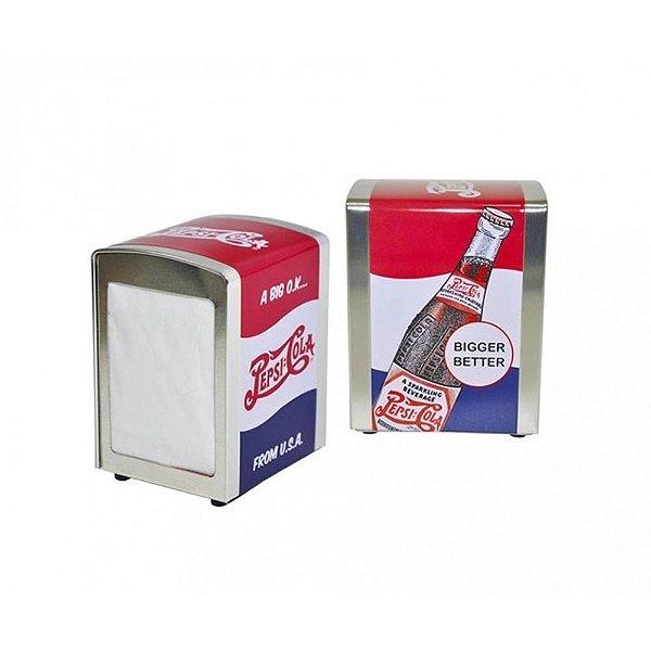 Porta Guardanapos De Mesa em Metal Retro Pepsi