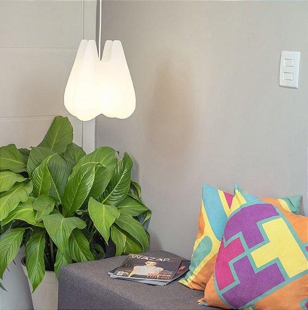 Luminária Pendente Dente Natural Usare 28cm