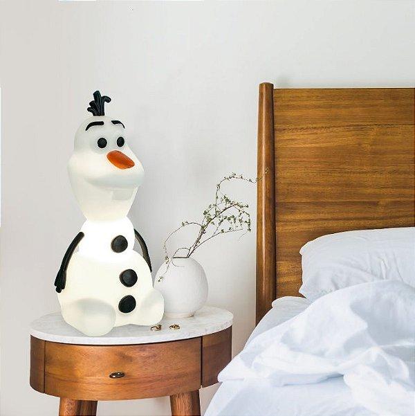 Luminária Decoração Infantil Olaf Frozen Original Abajur 3d