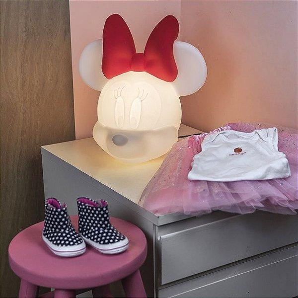 Luminária Abajur De Mesa Minnie Usare Disney