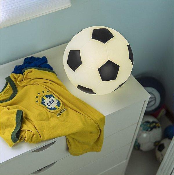Abajur Infantil Luminária Bola De Futebol Quarto Bebê Menino