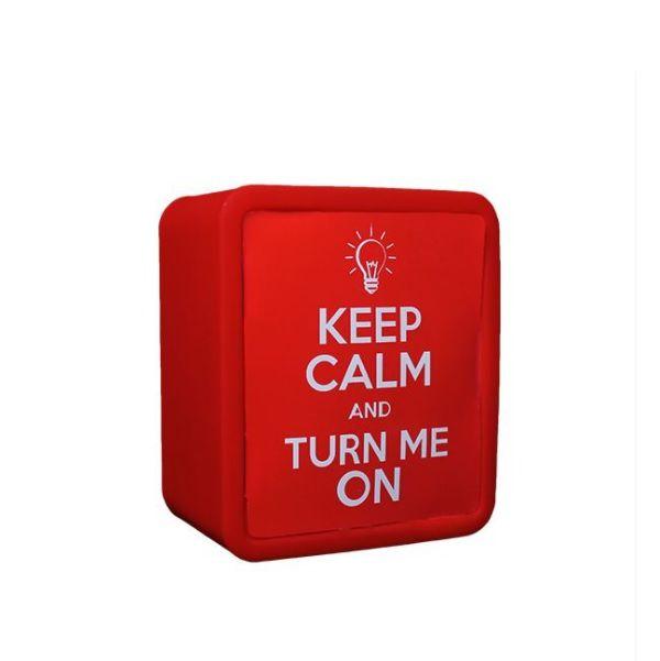 Luminária Abajur Lightbox Keep Calm And Turn Me On