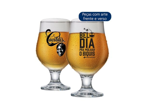 Taça De Cerveja Beer Master Cacildis Vidro 380ml - Belo Dia
