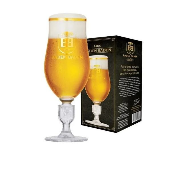 Taça De Cerveja Cristal Baden Baden Brasão Novo Modelo