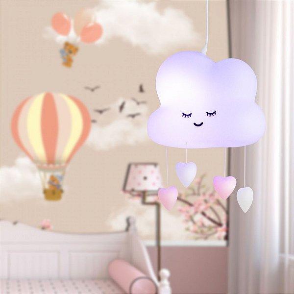 Luminária Pendente Nuvem Chuva De Amor Decorfun