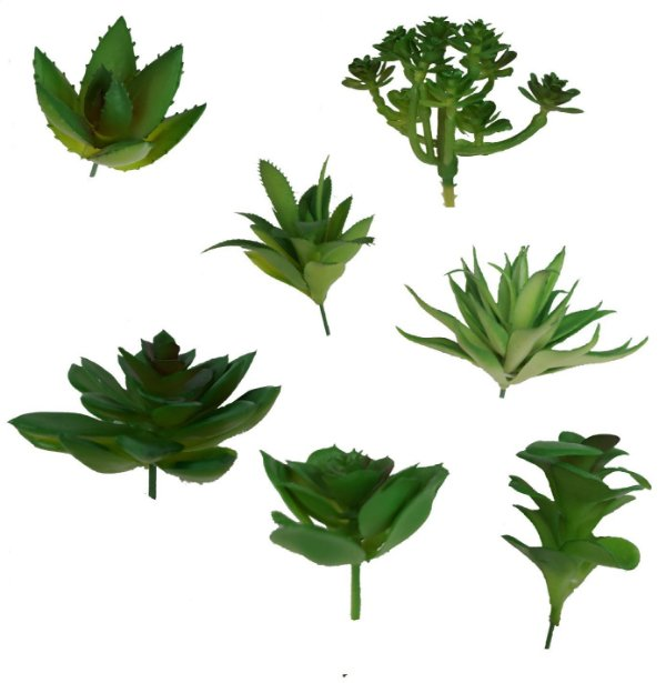 6 Suculentas Artificiais Plantas Com Aparência Real - Decoração