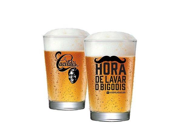 Copo De Cerveja Caldereta Cacildis Vidro 300ml - Hora De Lavar Os Bigodis