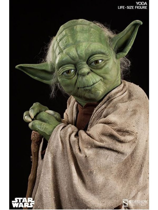 Quadro Decorativo Mestre Yoda Star Wars 28x20 Cm Verde