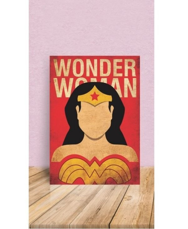 Placas Decorativa 28x20cm Mdf Wonder Woman Mulher Maravilha