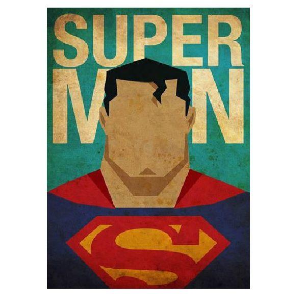 Placas Decorativa 28x20cm Mdf Superman Super Homem