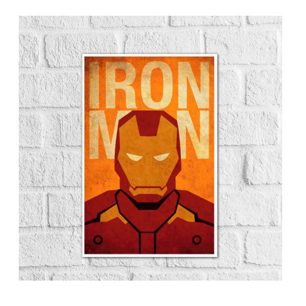 Placas Decorativa 28x20cm Mdf Iron Man Homem De Ferro