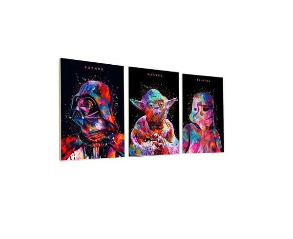 Kit 3 Placas Decorativas Star Wars - Quadros / Quadrinhos