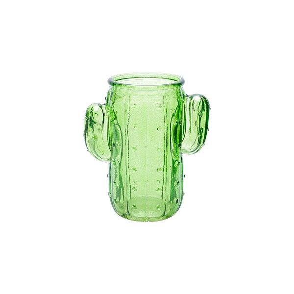 Copo / Caneca De Cacto Verde Em Vidro - Cactus 350 Ml