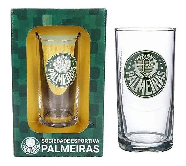 Copo De Vidro Long Drink Cerveja Chopp Palmeiras 300 Ml