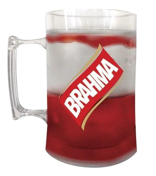 Caneca De Gel Cerveja Brahma 410 Ml Congelável